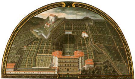 Lunetta Utens-Palazzo Pitti