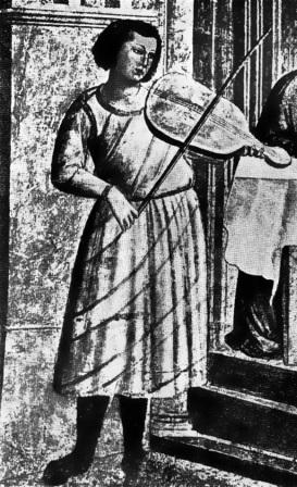 Giotto- Banchetto di Erode- particolare
