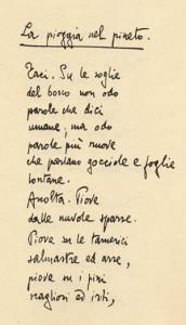 Poesia Italiana Per Studenti Stranieri La Pioggia Nel Pineto Di