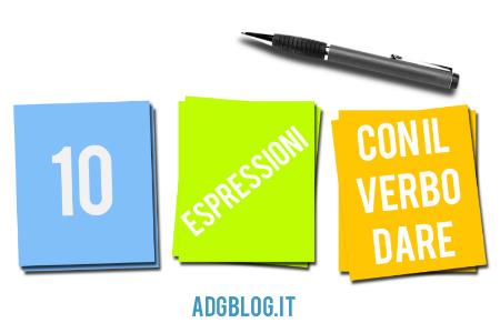 espressioni con il verbo dare