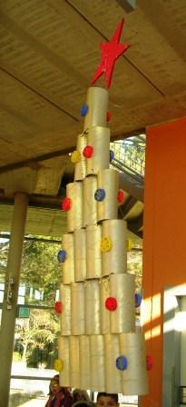 Natale riciclando adgblog - Albero porta carta igienica ...