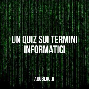Quiz dei termini informatici