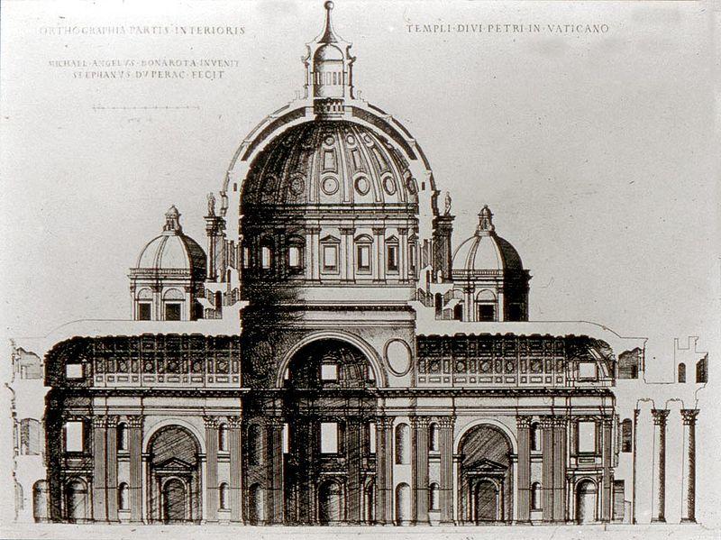 Il progetto di Michelangelo per la Basilica di San Pietro in Vaticano