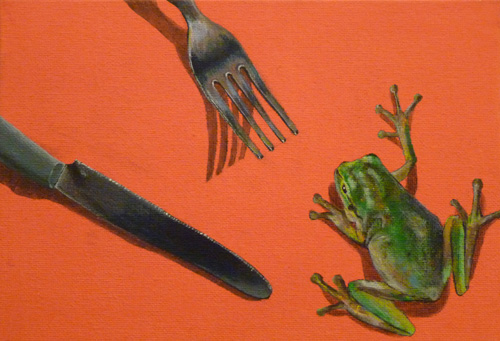 Trompe-l'oeil by one of our former students: Yurina Sakamoto
