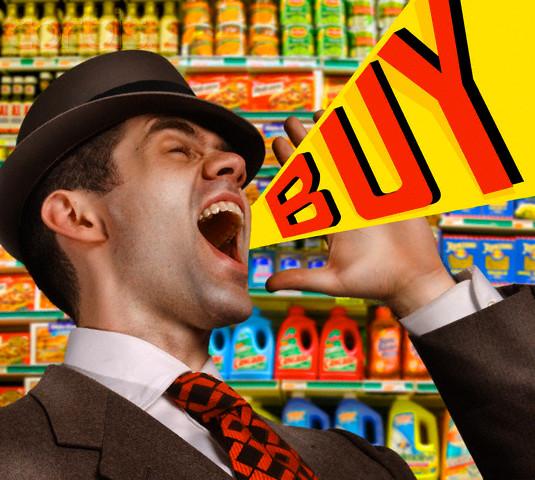 Salesman Shouting