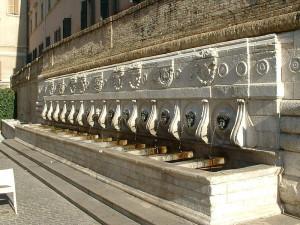 La fontana del Calamo, detta anche delle tredici cannelle