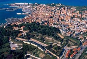 Vista aerera della città