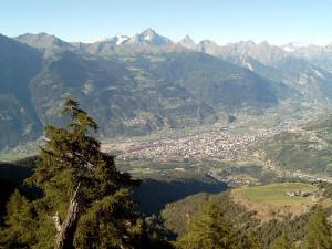 vista dalle Alpi