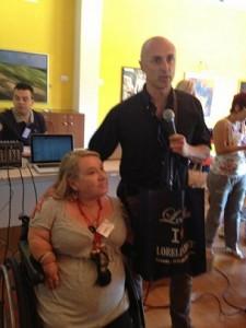 con Marco Mazzieri, sponsor della manifestazione e manager del Team Italia Baseball League