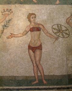 Mosaico romano nella Villa del Casale (IV secolo) in Sicilia