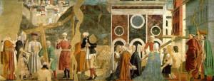 Particolare della leggenda della vera croce di Piero della Francesca