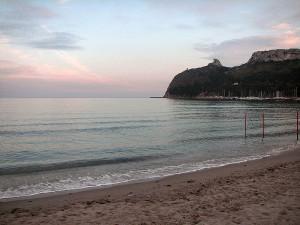 la spiaggia di Poetto