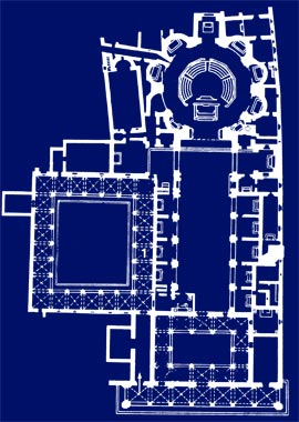 Italiano con la storia dell 39 arte la basilica della for Grande planimetria della camera singola storia