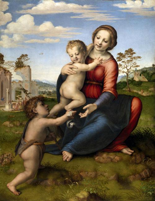 Franciabigio - Madonna con Bambino e San Giovannino - Galleria degli Uffizi