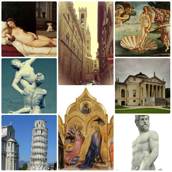 italiano con la storia dell'arte