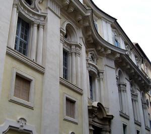 Palazzo di Propaganda Fide, facciata del Borromini