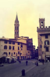La Badia Fiorentina vista da Piazza San Firenze