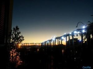 dal balcone, serata romantica