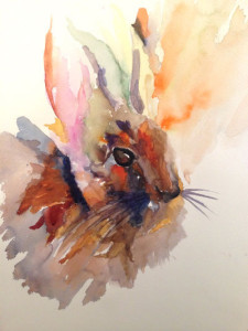 Rabbit - Watercolor