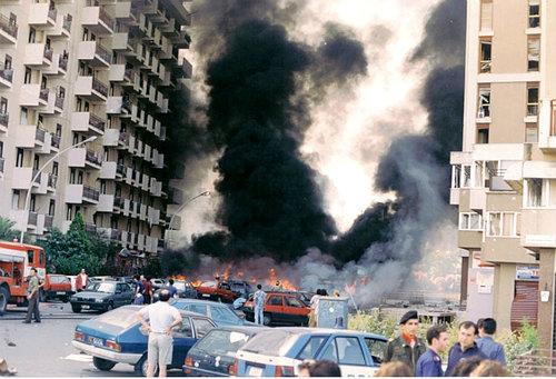 Via d'Amelio appena dopo l'attentato