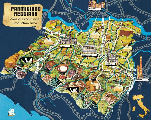zona produzione parmigiano reggiano
