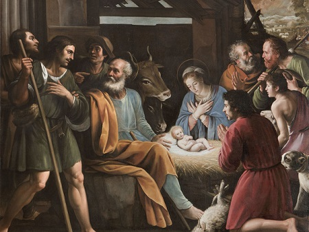 """""""Natività"""" di Giuseppe Vermiglio (Alessandria, 1585-1635)"""