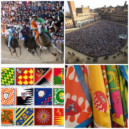collage palio siena