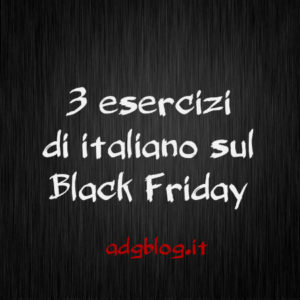 black friday esercizi