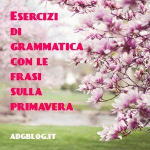 grammatica con la primavera
