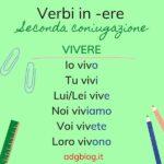 Presente verbi seconda coniugazione